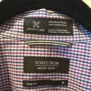 👔*NWOT* Nordstrom Fitted WRINKLE FREE Dress Shirt